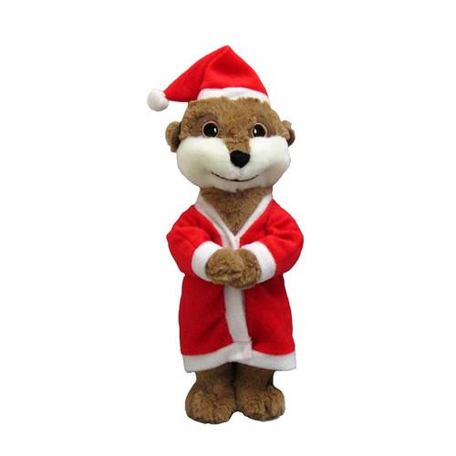 Christmas Santa Meerkat Soft Dog Toy by Good Boy