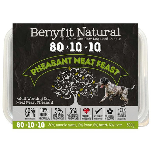 Benyfit Natural RAW 80:10:10 Pheasant Meat Feast dog food