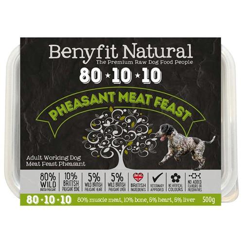 Benyfit Natural RAW 80:10:10 Pheasant Meat Feast dog food