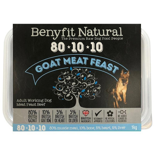 Benyfit Natural RAW 80:10:10 Goat Meat Feast dog food