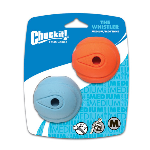 Chuckit Whistler ball Siae Medium 6.5cm pack of 2