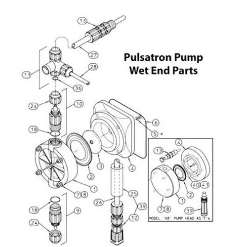 J41694 Chem-Tech Injection Back Check Valve, PVC,Hypalon Seal, Ceramic Ball  (1/2