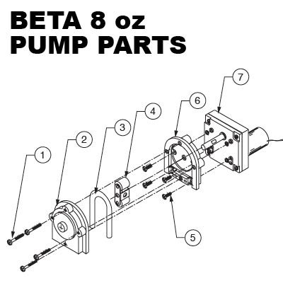 Beta Technology 8oz Pump Parts