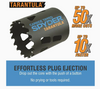 """600917 Spyder Tarantula 4 1/2"""" Inch 114mm Hole Saw Tungsten Carbide-Tipped Non-Arbored Hex 10 for Steel, Wood, Plastics + More"""