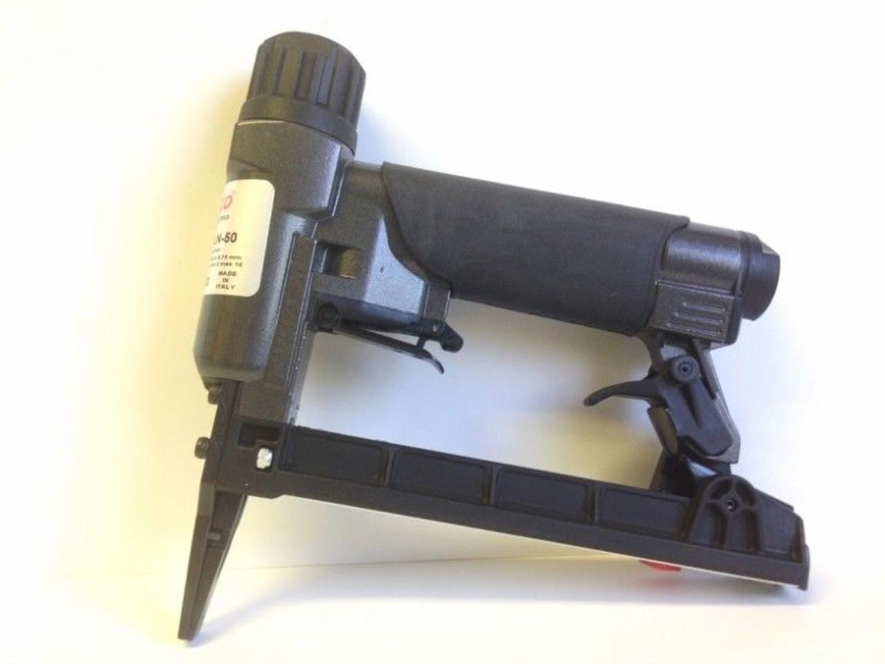"""Rainco 22 Gauge 3/8"""" Crown Upholstery Stapler - 1B 7C-16 NL50 Long Nose"""