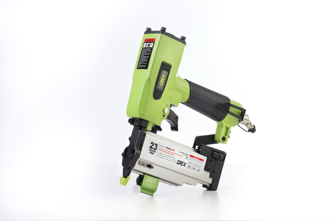 "Grex P650LXE 2"" Length Headless Pinner with 1 Touch OverRide LockOut w/ Edge Guide - P650LXE (660292100354)"