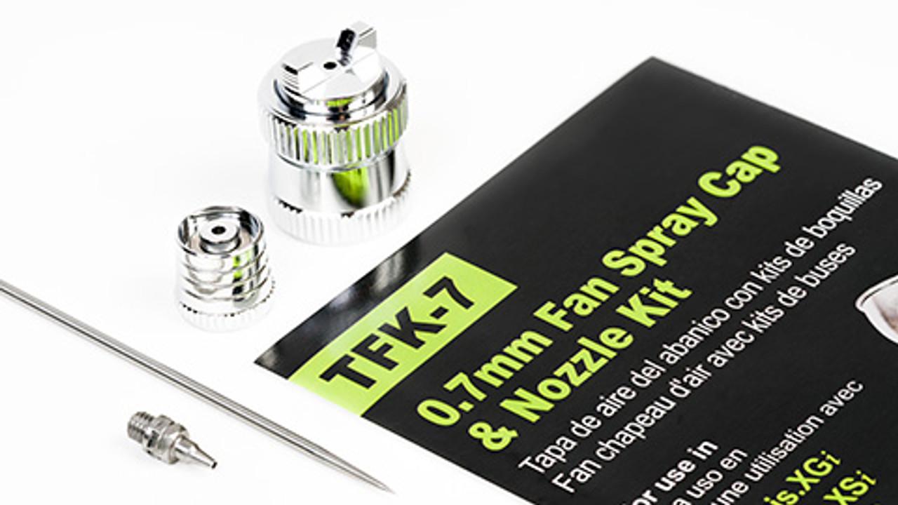 Grex 0.7mm Fan Spray Cap & Nozzle Kit - TFK-7