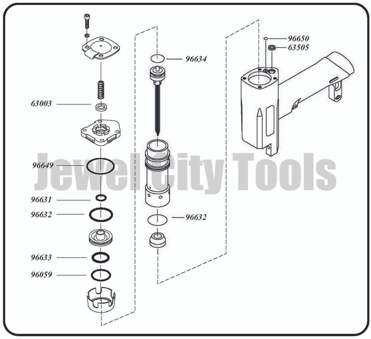 Grex P635 Pinner Nailer OEM Original O-Ring Kit--Part # P635KD (660292130078)