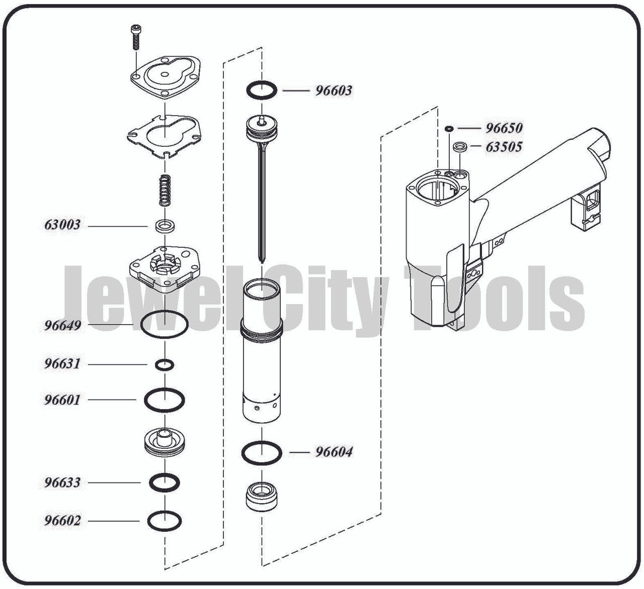 Grex P650LX, P650LXE H850LX Pinner Nailer OEM Original O-Ring Kit--Part # H850LXKD