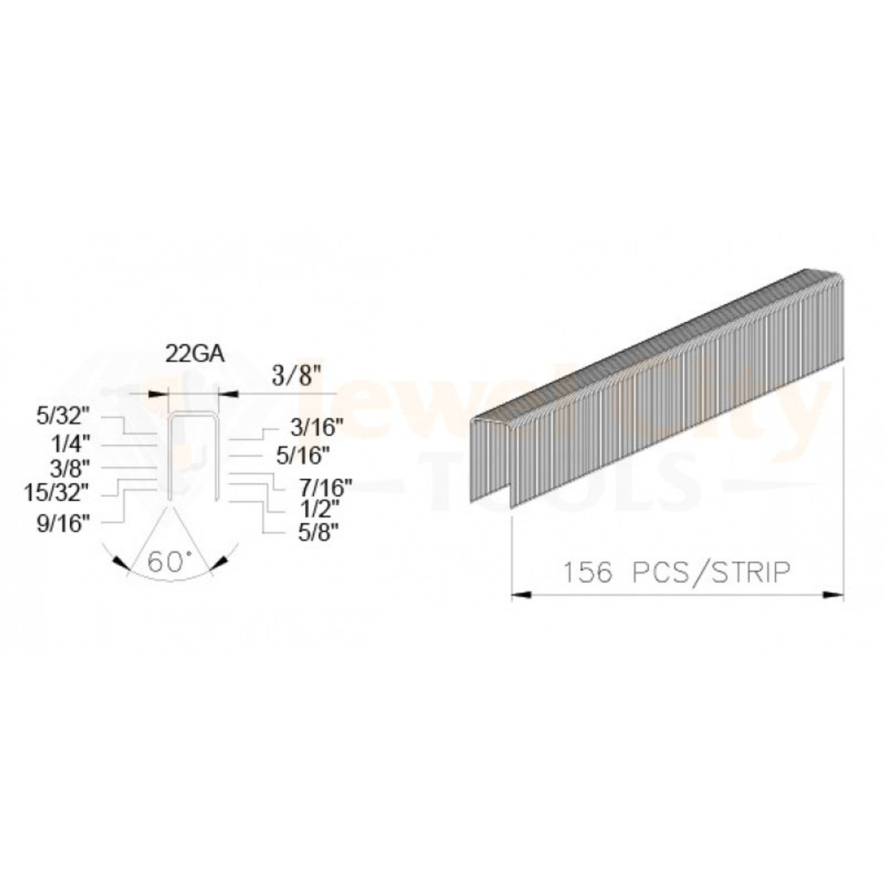 "BeA 22 Gauge 71 Series Upholstery Staples 3//8/"" crown 3//8/"" 1//4/"" 5//32/"" Long 3 Box"