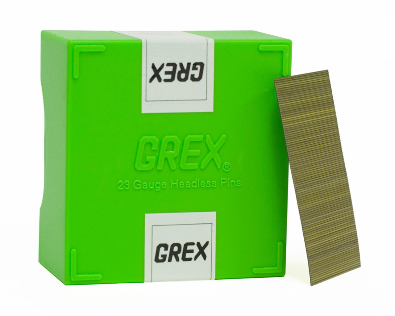 "Grex 23 Gauge Stainless Steel (23 Ga.) 1-3/8"" Inch Micro Headless Pins 5,000 per box P6/35L-ST"