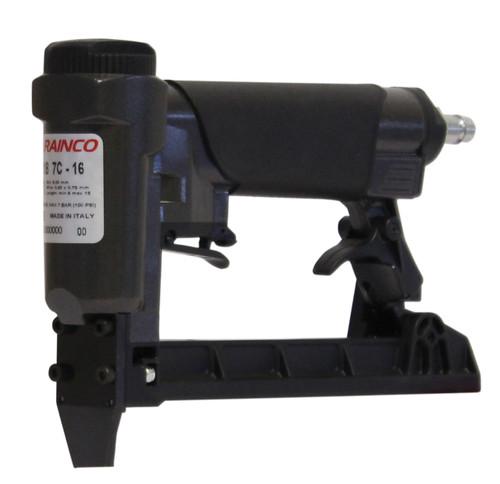 "Rainco 22 Gauge 3/8"" Crown Fine Wire Upholstery Stapler - R1B7C16"