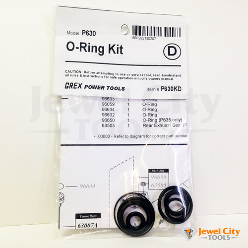 Grex Replacement O-Ring Kit for P630 Pinner Nailer