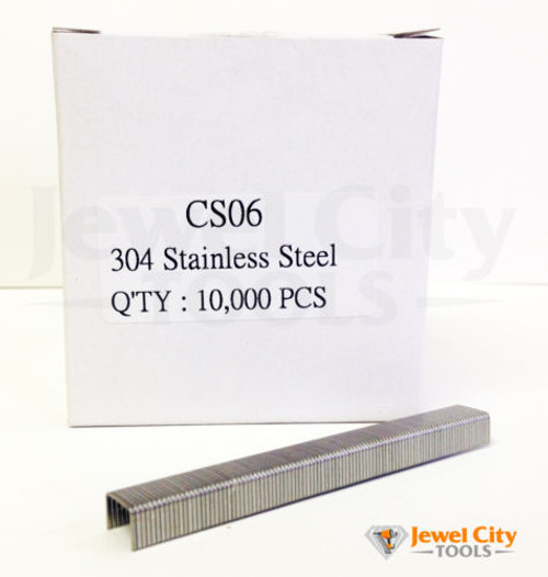 "22 Gauge Stainless Steel Staples 3/8"" crown 1/4"" Length"