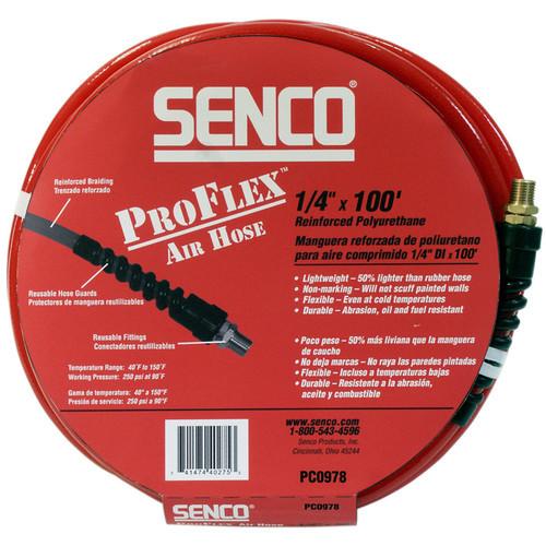 """Senco Proflex Hose 1/4"""" x 100' Reinforced Polyurethane Air Hose - PC0978"""