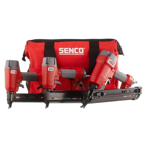 SENCO FinishPro 3-Tool Nailer and Stapler Combo Kit (1Y0060N) FinishPro 35 Nailer,  FinishPro 18 Nailer, SLS18 Nailer