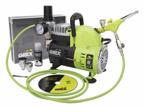 Grex GCK05 Genesis.XGi Airbrush Combo Kit with Genesis.XGi 3 Airbrush and AC1810-A Compressor (660292120314)