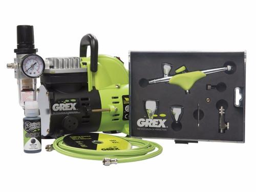 Grex GCK05 Genesis.XGi Airbrush Combo Kit with Genesis.XGi 3 Airbrush and AC1810-A Compressor (660292120314)