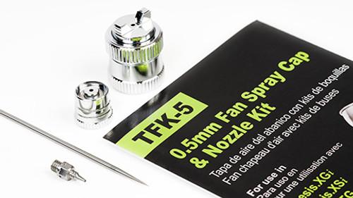 Grex 0.5mm OEM Original Fan Spray Cap & Nozzle Kit - TFK-5  TFK5 (744271644449)