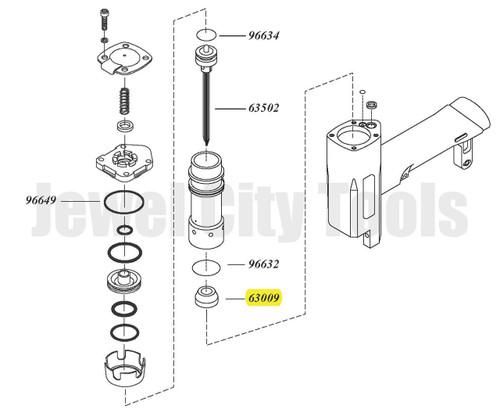Grex P635 Replacement Bumper - Part # 63009