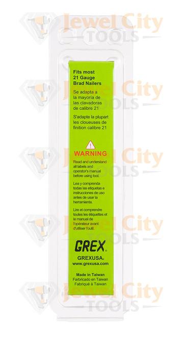 """Grex 21 Gauge (21Ga) Galvanized 7/8"""" 22mm Brads Brad Nails H8/22-1.3"""