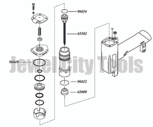Grex P635 Pinner Nailer OEM Original Driver & Maintenance Kit--Part # P635KB2 (660292130023)