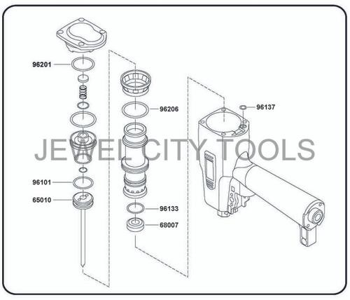 Grex P650LX P650LXE Pinner Nailer OEM Original Driver & Maintenance Kit--Part # P650LXKB (660292130238)