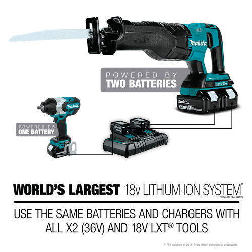 "Makita XTS01T Cordless 3/8"" Inch Crown Stapler Kit 18V LXT® Lithium‑Ion 5.0Ah (088381834216)"