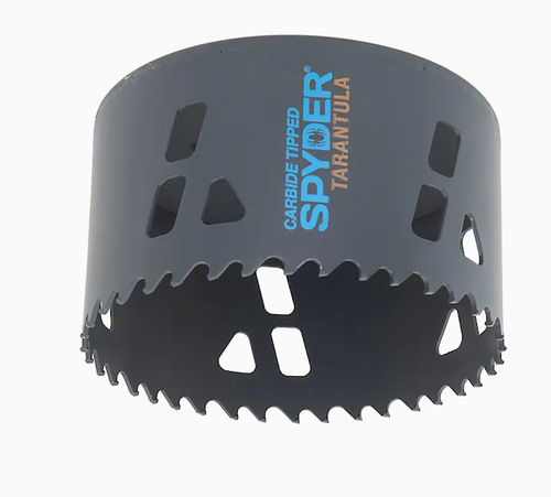 """600915 Spyder Tarantula 4"""" Inch 102mm Hole Saw Tungsten Carbide-Tipped Non-Arbored Hex 10 for Steel, Wood, Plastics + More"""