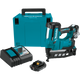 "Makita XNB02RJ 16 Ga. Cordless 2‑1/2"" Straight Finish Nailer Kit 18V LXT® Lithium‑Ion, (2.0Ah) (088381852067)"