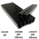 "10,000 Hyper Black Staples 22 Gauge 3/8"" 10mm Crown 3/8"" 10mm Length 22Ga 10mm Black Chisel Point Upholstery Staples"