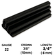 "10,000 Hyper Black Staples 22 Gauge 3/8"" 10mm Crown 1/4"" 6mm Length 22Ga 6mm Black Chisel Point Upholstery Staples"