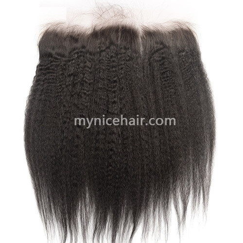 13x4 Pre-plucked Frontal Unprocesse Kinky Straight Virgin Human Hair