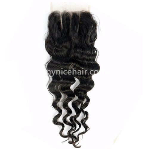 4X4 Pre-plucked Top Closure Loose Wave Unprocessed Virgin Human Hair