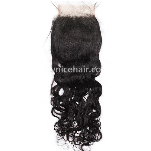 4X4 Pre-plucked Top Closure Natural Wave Virgin Human Hair