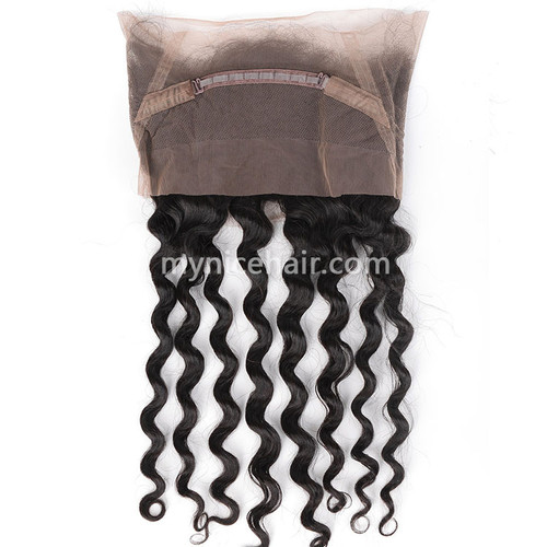 360 Lace Frontal Preplucked Loose Wave Unprocessed  Virgin Human Hair