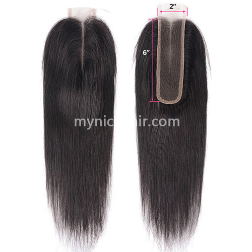 2X6 Kim K Pre-plucked Lace Closure Straight Virgin Human Hair