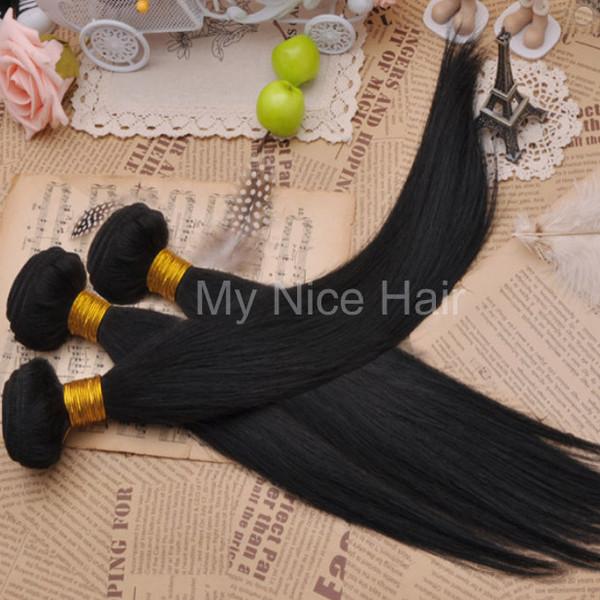 High Quality 3 Bundles Virgin Brazilian Human Hair Silky Straight Weave