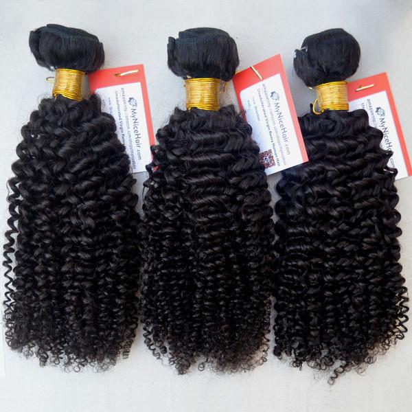 High Quality 3 Bundles Virgin Brazilian Human Hair Kinky Curly Weave