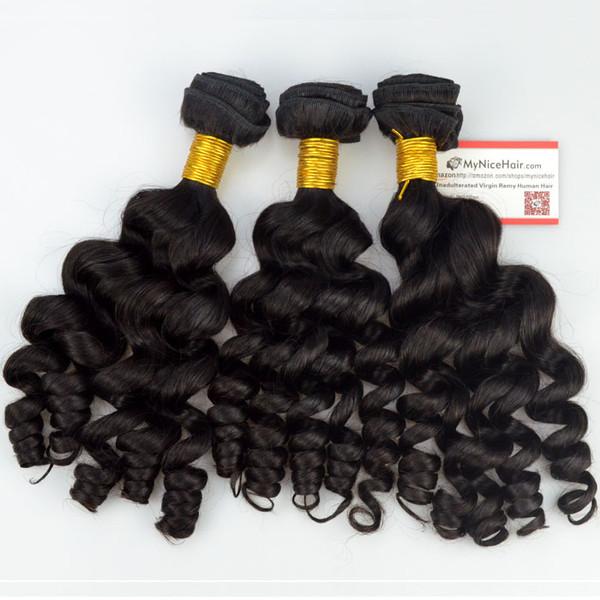 High Quality 3 Bundles Virgin Brazilian Human Hair Romantic Loose Curly Weave