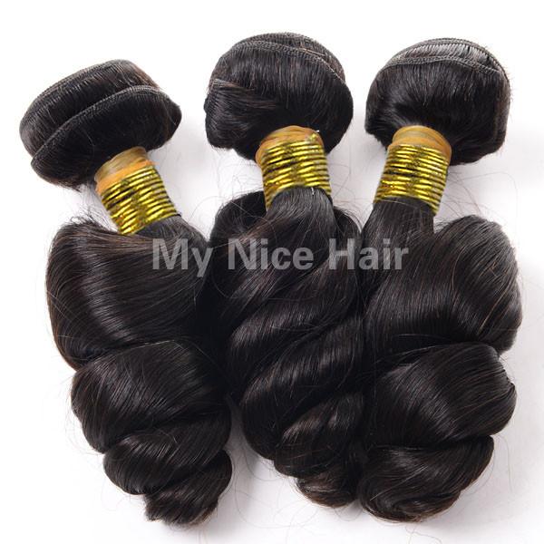 High Quality 3 Bundles Virgin Brazilian Human Hair Loose Curly Weave