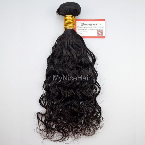 High Quality 1 Bundle  Virgin Brazilian Human Hair Natural Curly Weave