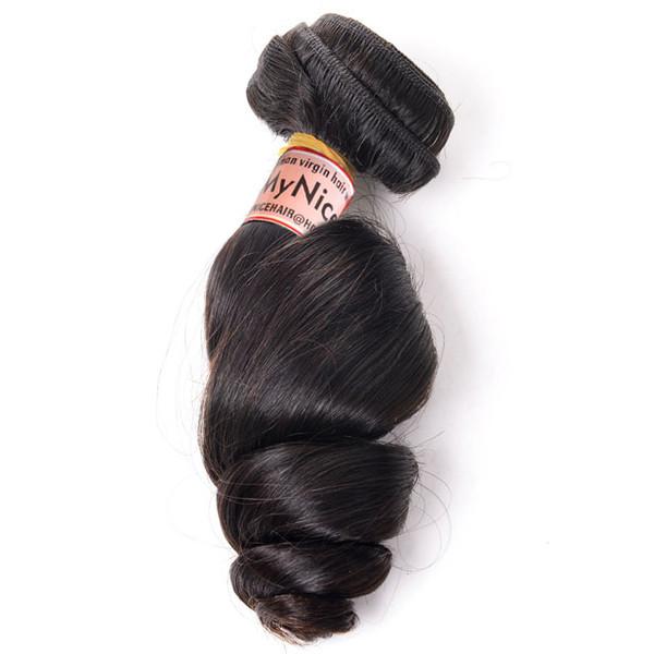 High Quality 1 Bundle  Virgin Brazilian Human Hair Loose Curly Weave
