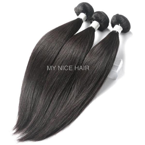 High Quality 3 Bundles Virgin Peruvian Human Hair Silky Straight Weave