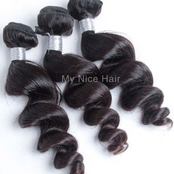 High Quality 3 Bundles Virgin Peruvian Unprocessed Human Hair Loose Curly Weave