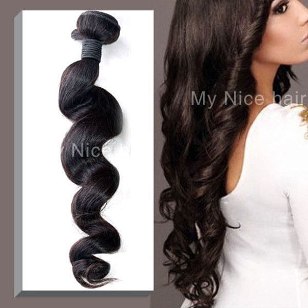 High Quality 1 Bundle  Virgin Malaysian Human Hair Loose Curly Weave
