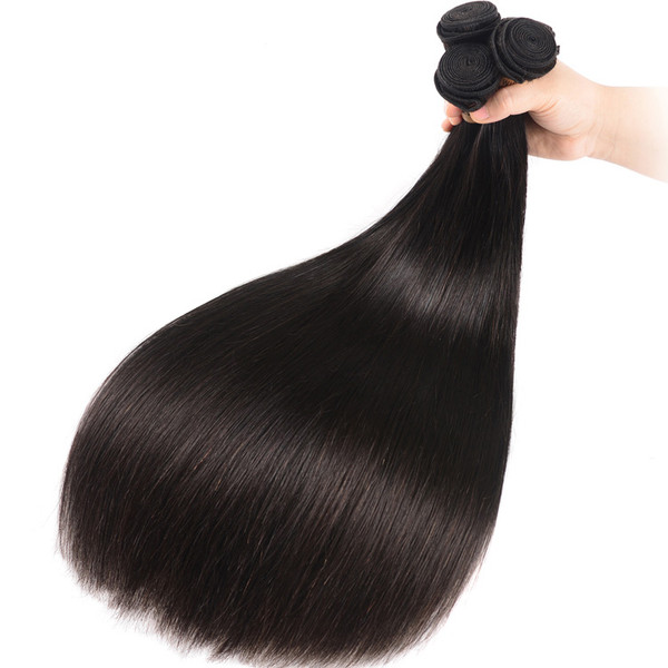 High Quality 3 Bundles Virgin Malaysian Human Hair Silky Straight Weave