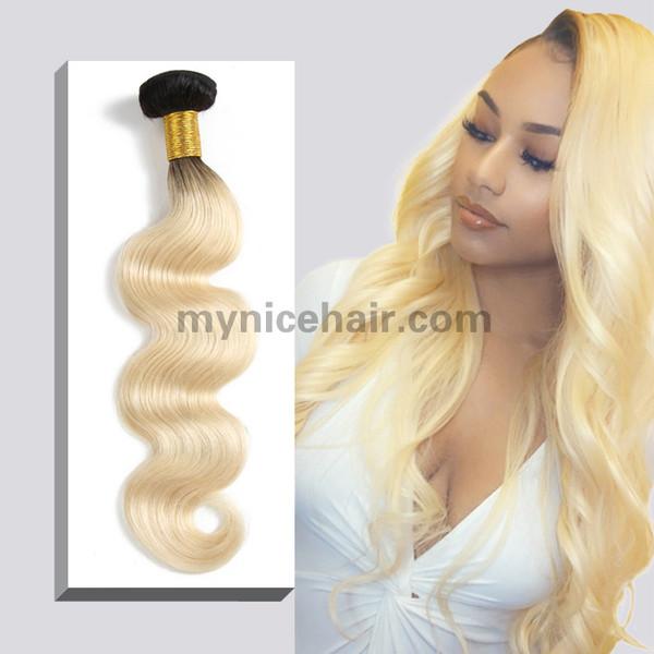 1 Bundle Top Best Ombre 1b/613# Blonde Body Wave Virgin Human Hair
