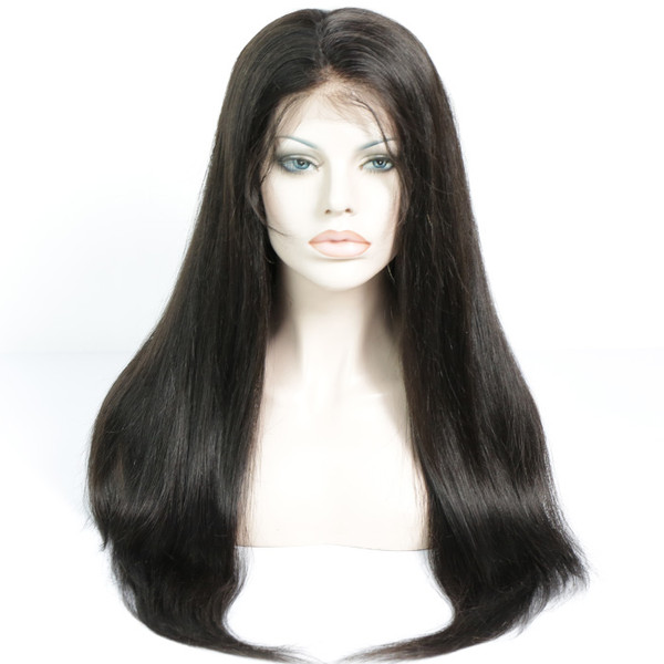 Lace Front Wig Pre-plucked Remy Virgin Human Hair Straight