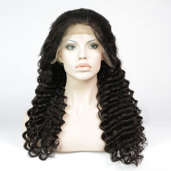 Lace Front Wig Pre-plucked Remy Virgin Human Hair Deep Wave